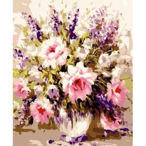 Воздушные розы Раскраска по номерам акриловыми красками на холсте Menglei