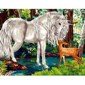 Волшебный лес Раскраска картина по номерам на холсте Molly