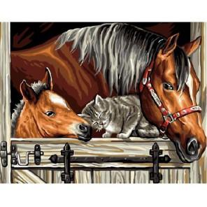 Друзья Раскраска картина по номерам акриловыми красками на холсте Molly