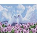 Пара голубей Раскраска картина по номерам на холсте Molly