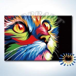 Ваю Ромдони. Радужный кот Раскраска картина по номерам акриловыми красками на холсте Hobbart