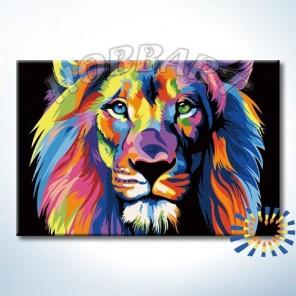 Ваю Ромдони. Радужный лев Раскраска картина по номерам акриловыми красками на холсте Hobbart