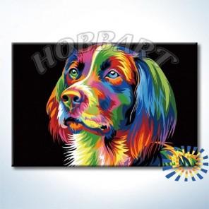 Ваю Ромдони. Радужный пёс Раскраска картина по номерам акриловыми красками на холсте Hobbart