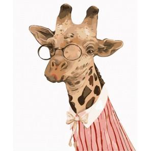 Леди Жирафа Раскраска по номерам акриловыми красками на холсте Menglei