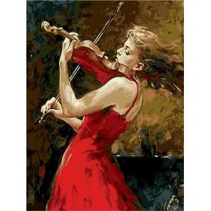 Страсть к музыке Раскраска картина по номерам акриловыми красками на холсте Menglei
