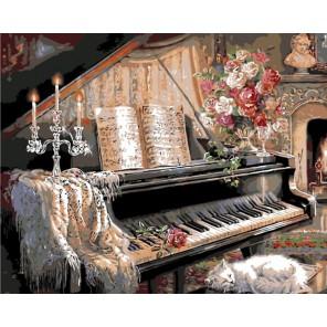 Соната при свечах Раскраска картина по номерам акриловыми красками на холсте Menglei