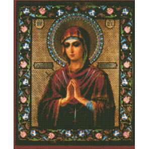 Пресвятая Богородица «Умягчение злых сердец» Алмазная вышивка мозаика с рамкой Цветной