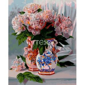 Свидание под сенью букета Раскраска картина по номерам акриловыми красками на холсте Iteso