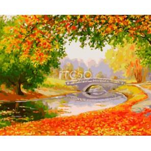 Осени краски Раскраска картина по номерам акриловыми красками на холсте Iteso