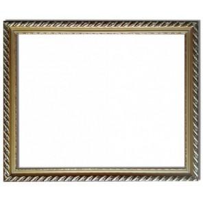 Коричневая с золотом Рамка багетная универсальная для картины