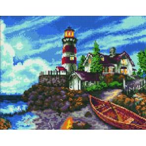 Маяк Алмазная вышивка мозаика Цветной