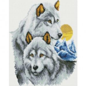 Нежность волков Алмазная вышивка мозаика Цветной