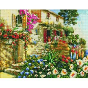Дом в цветах Алмазная вышивка мозаика Цветной