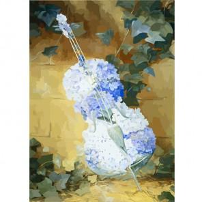 Цветочная скрипка Раскраска картина по номерам акриловыми красками Color Kit