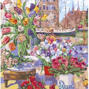 Цветочная лавка Раскраска картина по номерам акриловыми красками Color Kit