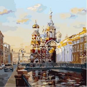Виды Петербурга Раскраска картина по номерам акриловыми красками Color Kit