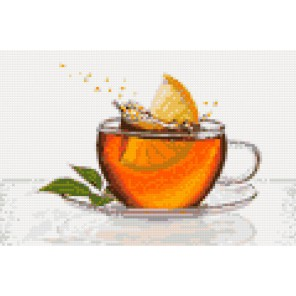 Чай с лимоном Алмазная мозаика на твердой основе Iteso | Купить алмазную мозаику