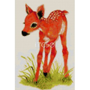 Оленёнок Алмазная мозаика на твердой основе Iteso | Купить алмазную мозаику