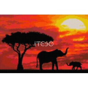 На закате Алмазная мозаика на твердой основе Iteso | Купить алмазную мозаику