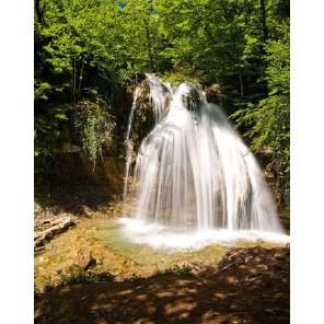 GX9809 Крым. Водопад Джур-Джур Раскраска картина по номерам акриловыми красками на холсте Molly| Купить картину по номерам