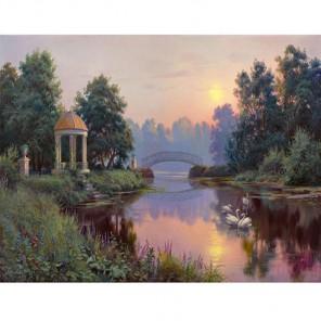 GX9828 Утренний парк (Прищепа И.) Раскраска картина по номерам акриловыми красками на холсте Molly| Купить картину по номерам