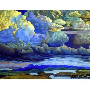 GX9843 Рерих. Небесный бой Раскраска картина по номерам акриловыми красками на холсте Molly | Купить картину по номерам