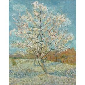 Персик в цвету (репродукция Ван Гога) Раскраска картина по номерам на холсте Molly