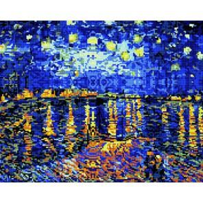 GL026 Ван Гог. Ночь над Роной Алмазная мозаика стразами Molly   Купить алмазную мозаику Молли
