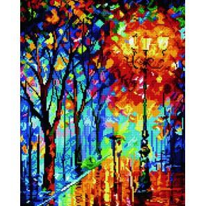 GL090 Осень в парке (Леонид Афремов) Алмазная мозаика стразами на подрамнике Molly | Купить алмазную мозаику Молли