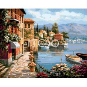 Средиземноморская гавань Алмазная вышивка мозаика Iteso