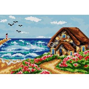 Домик у моря Алмазная мозаика на твердой основе Iteso