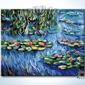 Водяные лилии. Клод Моне Раскраска картина по номерам акриловыми красками на холсте Hobbart