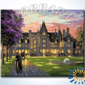 Вечер в замке Раскраска картина по номерам акриловыми красками на холсте Hobbart