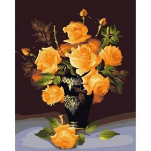 Букет желтых роз Раскраска картина по номерам акриловыми красками на холсте Белоснежка | Картины на холсте по номерам купить