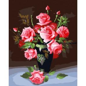 Букет роз Раскраска картина по номерам акриловыми красками на холсте Белоснежка | Картины по номерам купить
