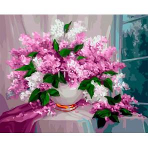 Сирень на столе Раскраска картина по номерам акриловыми красками на холсте Iteso | Картину по номерам купить