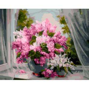 Аромат сирени Раскраска картина по номерам акриловыми красками на холсте Iteso | Картину по номерам купить
