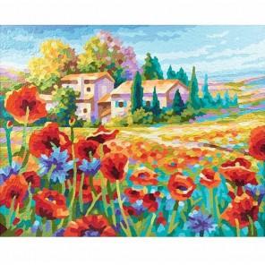 Маковое поле Раскраска по номерам акриловыми красками Schipper (Германия) | Картина по номерам Schipper купить
