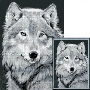 Серый волк Алмазная мозаика вышивка Гранни