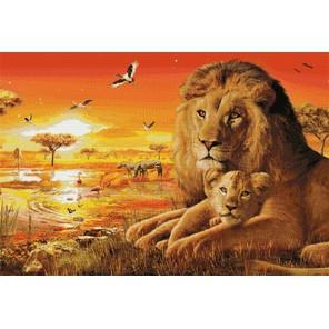 Африка. Хищники Алмазная мозаика вышивка Гранни