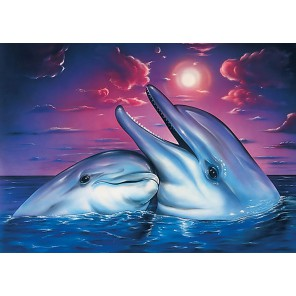 Ночь в море Алмазная мозаика вышивка Гранни