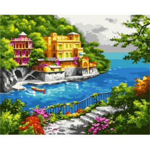 Нарисованный рай (художник Sung Kim) Раскраска картина по номерам акриловыми красками на холсте | Картина по номерам купить