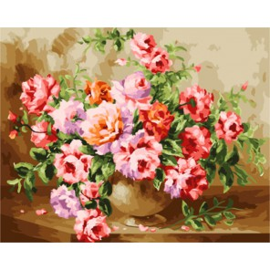 Букет роз (художник Антонио Джанильятти) Раскраска картина по номерам акриловыми красками на холсте | Картина по номерам купить