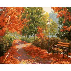 Осенняя палитра (художник Марина Гордеева) Раскраска по номерам акриловыми красками на холсте | Картина по номерам купить