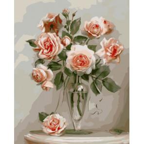 Розы (художник Игорь Бузин) Раскраска картина по номерам акриловыми красками на холсте   Картина по номерам купить