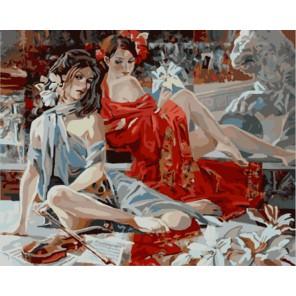 Уроки музыки (художник Алексей Лашкевич) Раскраска картина по номерам акриловыми красками на холсте