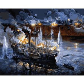 Корабль (художник Том Фриман) Раскраска картина по номерам акриловыми красками на холсте | Картина по номерам купить