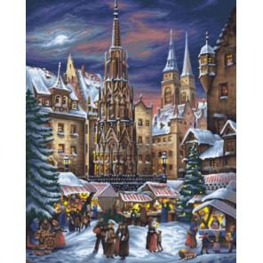 Зимняя ярмарка Раскраска картина по номерам акриловыми красками на холсте | Картина по номерам купить
