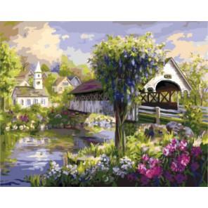 Тихая речка Раскраска картина по номерам акриловыми красками на холсте | Картина по номерам купить