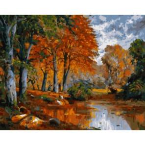 Оранжевая осень Раскраска картина по номерам на холсте